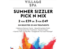 SUMMER SIZZLER TREATMENTS FROM £39 FOR 2