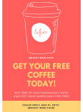 August Offer: Free Coffee with your Cake at Bright Now Cafe in Brighthelm