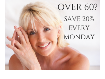 If you are over 60, you can save 20% every Monday.