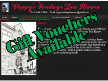 Gift Vouchers Available - Poppy's Tea Room St Neots