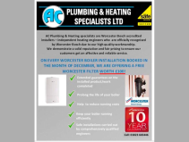 FREE Worcester filter with every boiler installation
