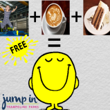 FREE coffee and slice of cake with a FREE jump for all mums and dads this January at Jump In Walsall!