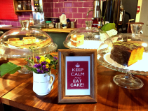 Tea or coffee and cake offer at The Blitz.