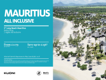 Save up to £2507 from London Gatwick to Mauritius