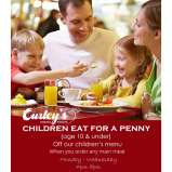 Children eat for 1p Monday-Wednesday Evenings!