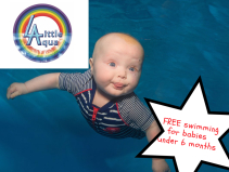 FREE swimming lessons for babies up to the age of 6 months