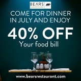 40% Off Your Food Bill At Bears