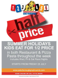 Summer Holidays - Kids Eat For Half-Price