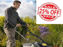 25% OFF ALL New Garden Machines