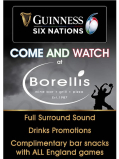 Drinks promotions and complimentary bar snacks during the Six Nations Championships