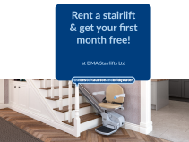 Rent a stairlift & get your 1st month FREE