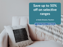 Save up to 50% off on selective ranges