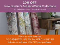 10% OFF New Autumn/Winter Fabric Collections