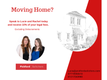 Get 10% off your legal fees when moving home with Pickford Solicitors!