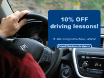 10% off driving lessons!