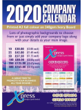 Bespoke 2020 Company Calendars at Xpress Design & Print