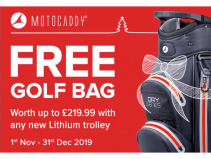 FREE Golf Bag with any new Lithium trolley at Calderfields Golf and Country Club