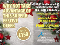 5000 double sided leaflets for the price of a single sided one at Xpress Design & Print!