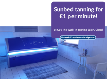 Sunbed Tanning for £1 per minute!