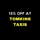 15% off when you quote 'BOW19' at Tomkins Taxis of Walsall!