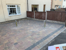 Driveway security post - supplied & fitted £230