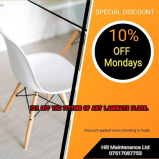 10% off the fitting of any laminate flooring at Hill Maintenance Limited
