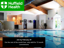 Join Nuffield Health NOW and get rest of month FREE and NO joining fee!