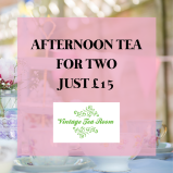 Afternoon Tea for 2 - just £16.50 at Vintage Team Rooms