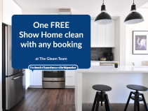 One FREE Show Home clean with any booking