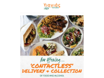 Yiayias contactless food and alcohol deliveries and collections