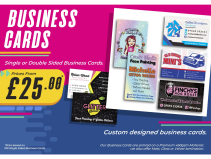 Business Cards from just £25 at SB Creative Design and Print