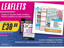 Custom designed leaflets packages from just £30 at SB Creative Design and Print