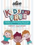 Tea-time just got easier! Kids eat free is back at Olive!