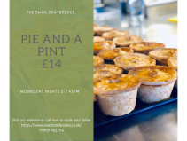 Pie & A Pint for £14 (Weds) at The Swan