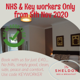 KEYWORKER FREE upgrade to a double room