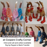 Wooden Ducks available at Coopers Crafty Corner