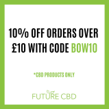 Get 10% off all orders on CBD products over £10 at Future CBD