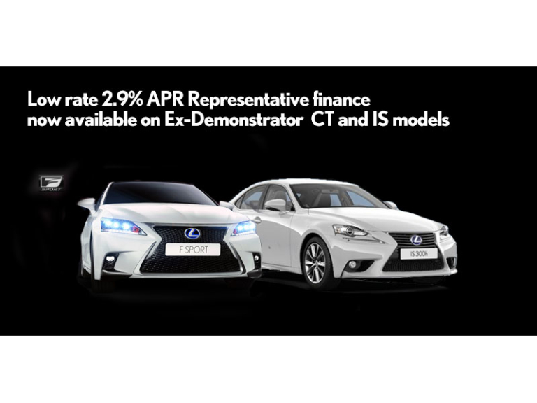 Low Rate Finance on Selected Models