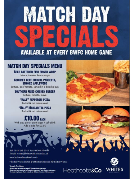 Any Dish from the Match Day Specials for only £10