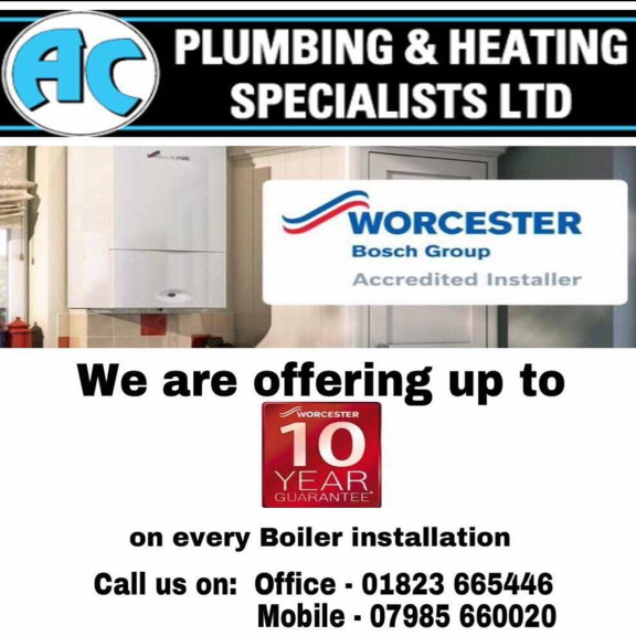 10% off all heating boilers