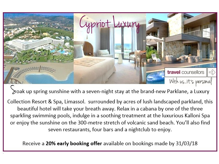 20% EARLY BOOKING OFFER FOR CYPRUS
