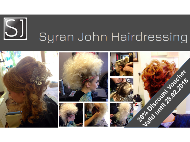 20% Discount at Syran John Hairdressing