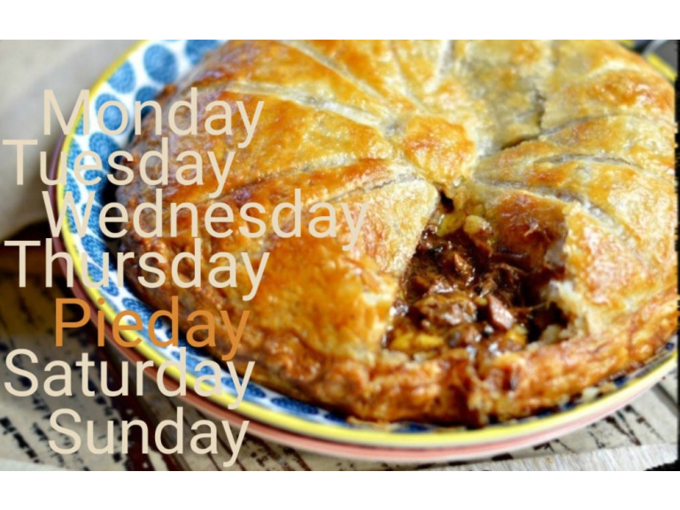 Friday is Pie Day at The Overstone in Pytchley.