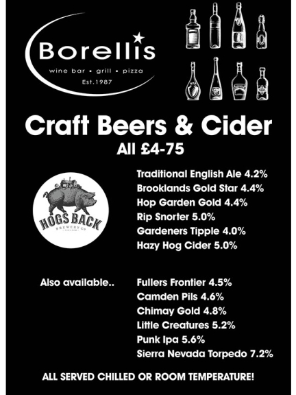 Craft Beers and Cider JUST £4.75 each