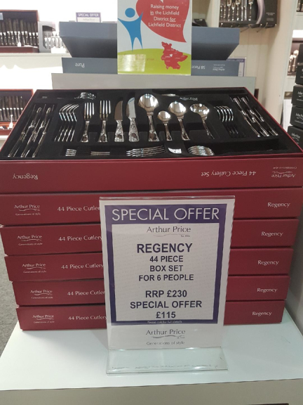Less than half price Regency cutlery set