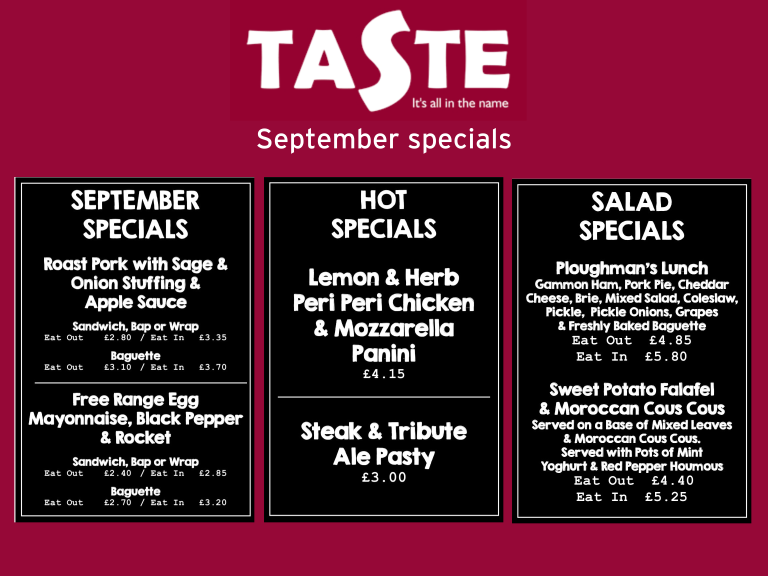 Taste the July Specials!