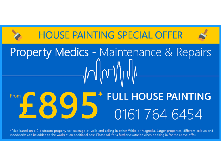 Full house painting for just £895*