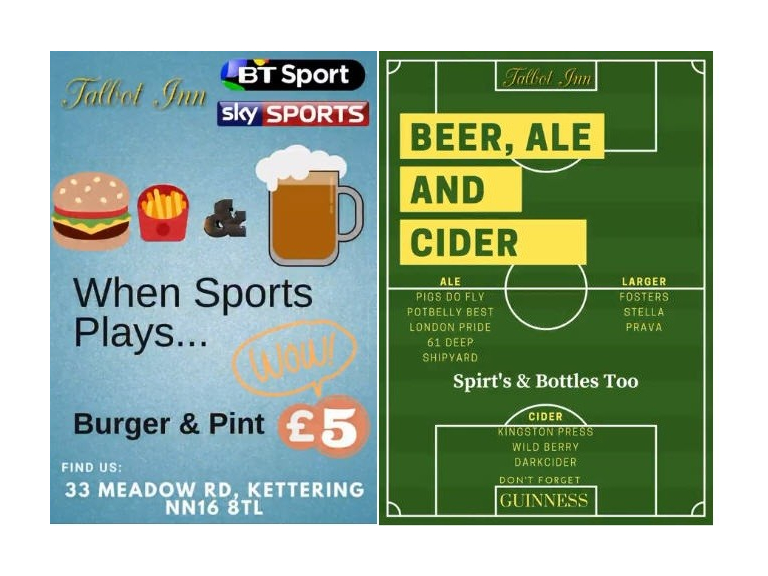 Sports Burger & Drink offer.