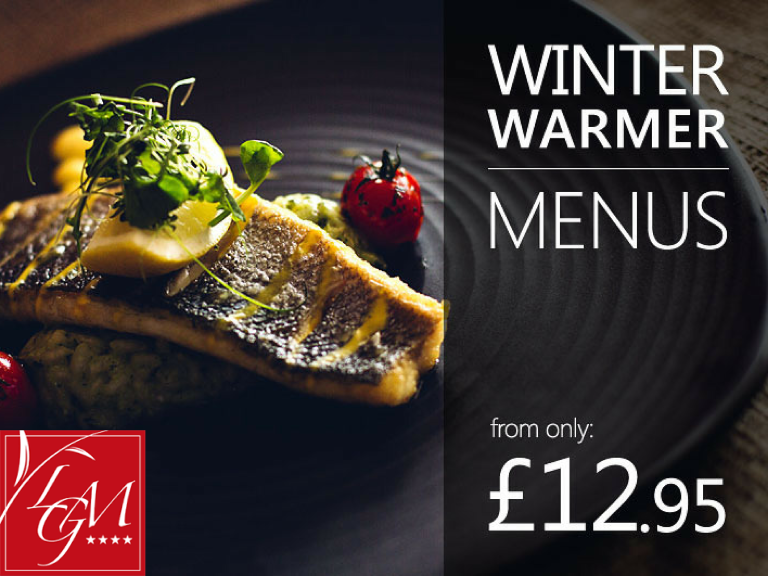 WINTER WARMER LUNCH OR EARLY BIRD DINNER AT LA GRANDE MARE HOTEL FROM £12.95