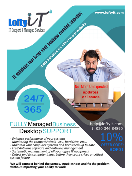 10% Off Your Business's Desktop Support